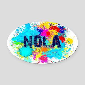 Good Vibes NOLA Burst Oval Car Magnet
