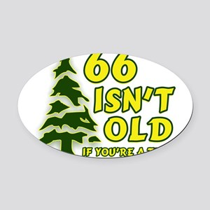 66 Isn't Old, If You're A Tre Oval Car Magnet