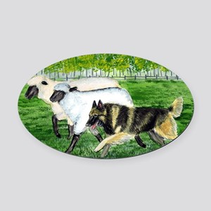 bel terv herd Oval Car Magnet