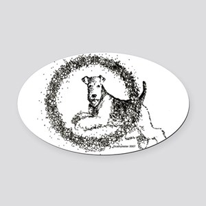 airedale Oval Car Magnet