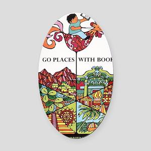 1968 Childrens Book Week Oval Car Magnet