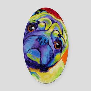 Pug #10 Oval Car Magnet