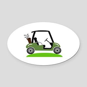 Golf Cart Oval Car Magnet