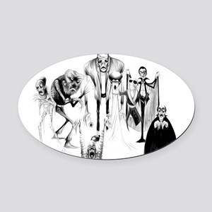Classic movie monsters Oval Car Magnet