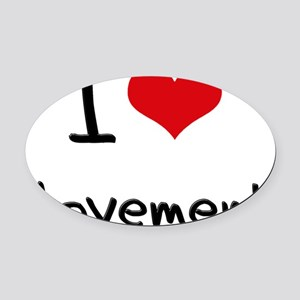 I Love Movement Oval Car Magnet