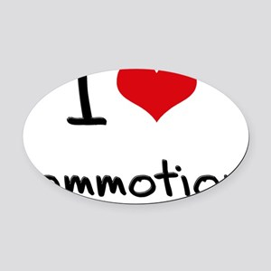 I love Commotion Oval Car Magnet