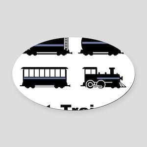 Got Trains? Oval Car Magnet