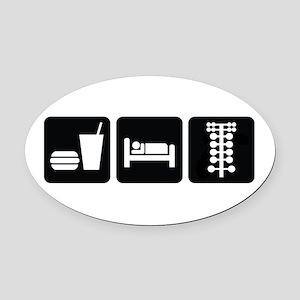 Eat Sleep Drag Oval Car Magnet