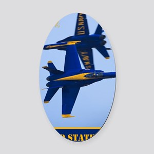 CP.Blues_380.16x20.banner Oval Car Magnet