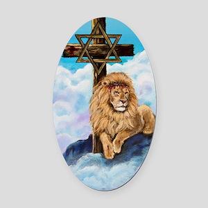 Messianic Art Oval Car Magnet