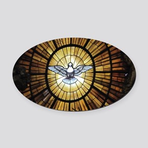 Dove Window at St Peters Basilica  Oval Car Magnet