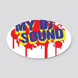My DJ Sound Oval Car Magnet
