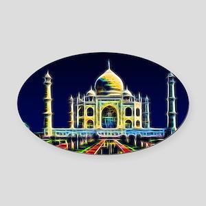 Taj Mahal, Agra, India Oval Car Magnet