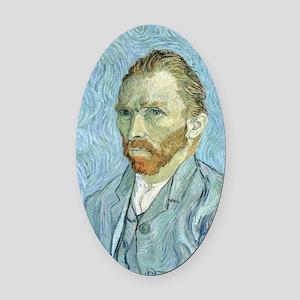 Self portrait, 1889 by Vincent Van Oval Car Magnet