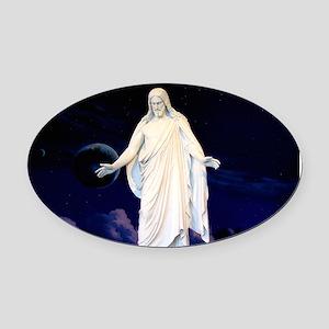 LDS Christus Oval Car Magnet