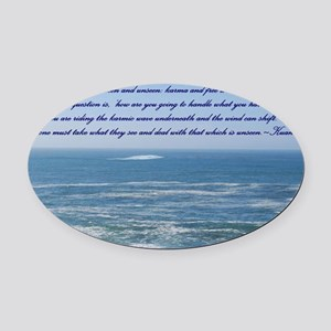 POWER OF THE MOMENT POEM Oval Car Magnet