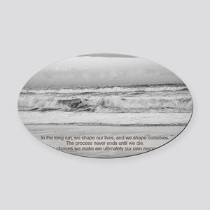 Eleanor Roosevelt Quote Oval Car Magnet