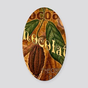 chocolate-collage_ff Oval Car Magnet