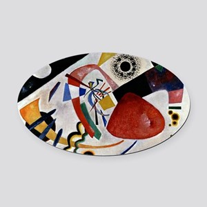 Kandinsky - Red Spot II Oval Car Magnet