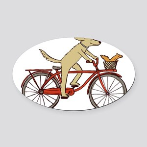 dogsquirreltee Oval Car Magnet