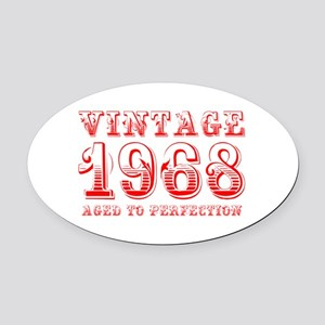 VINTAGE 1968 aged to perfection-red 400 Oval Car M