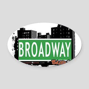 Broadway Oval Car Magnet