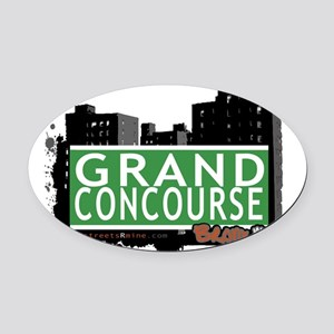 Grand Concourse Oval Car Magnet