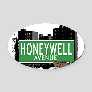 Honeywell Ave Oval Car Magnet