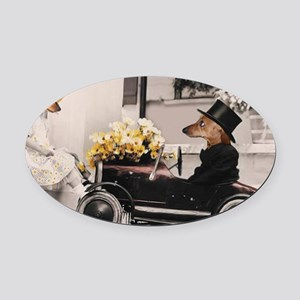 Old Fashioned Doxies Oval Car Magnet