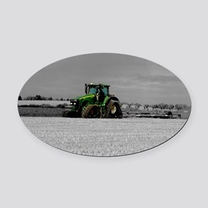 Working the Fields Oval Car Magnet