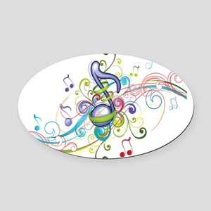 Music in the air Oval Car Magnet