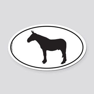 Army Mule Oval Car Magnet