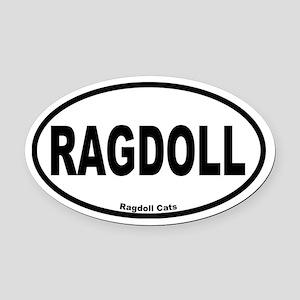 Ragdoll Oval Oval Car Magnet