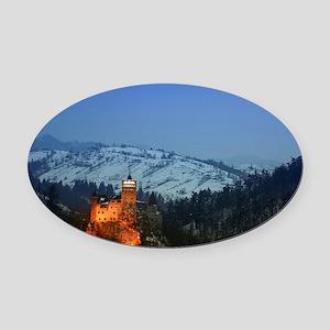 bran castle  Oval Car Magnet