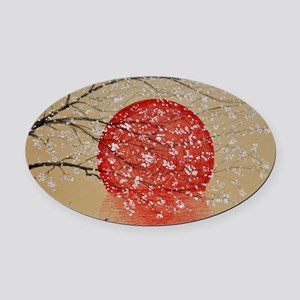 Japan Oval Car Magnet
