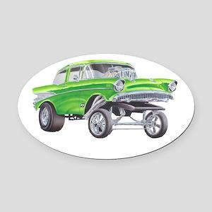 57 Green Gasser  Oval Car Magnet