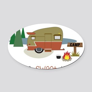 Home Sweet Home Oval Car Magnet