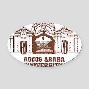 addis ababa university Oval Car Magnet