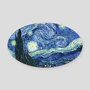 Van Gogh Starry Night Oval Car Magnet