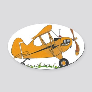 Cub Airplane Oval Car Magnet