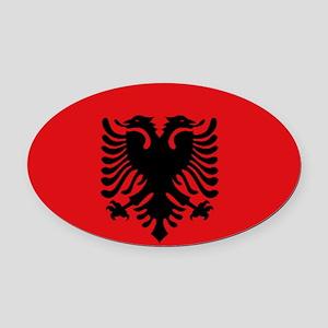 Albanian flag Oval Car Magnet