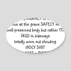 lifes Oval Car Magnet