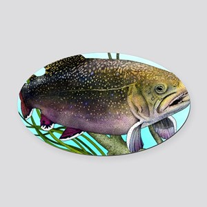 Brook Trout Oval Car Magnet