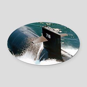 honolulu large framed print Oval Car Magnet