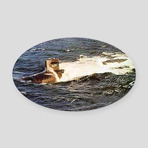 jack large framed print Oval Car Magnet