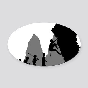 Rock-Climbing-02 Oval Car Magnet