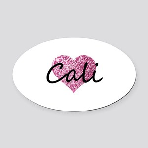Cali Oval Car Magnet