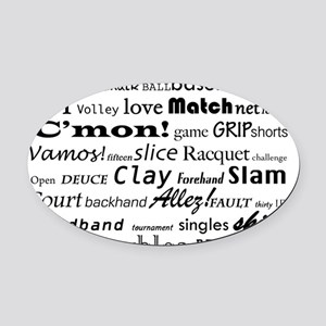 tennis-words-merged Oval Car Magnet