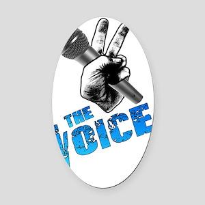 The Voice Grunge Blue Black Outlin Oval Car Magnet