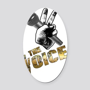 The Voice Grunge Gold Goblet Black Oval Car Magnet